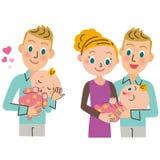 Baby en mamma Stock Afbeeldingen