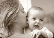 Baby en moeder Stock Fotografie