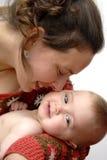 Baby en moeder Stock Foto's