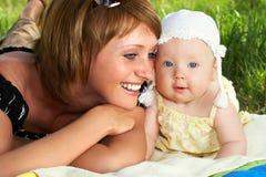 Baby en moeder Royalty-vrije Stock Afbeelding