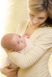 Baby en mum Stock Fotografie