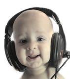 Baby en muziek royalty-vrije stock foto