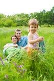 Baby en ouders Stock Afbeeldingen