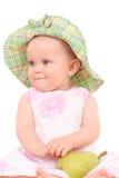 Baby en peer Stock Afbeeldingen