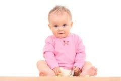 Baby en snack royalty-vrije stock foto's