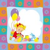 Baby en speelgoed Stock Afbeelding