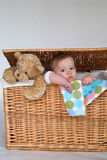 Baby en Teddy Royalty-vrije Stock Foto