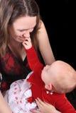 Baby en tiener stock fotografie