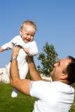 Baby en vader Stock Foto's