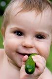 Baby en veggy Royalty-vrije Stock Fotografie