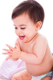 Baby enjoying by clapping hands Royalty Free Stock Photo
