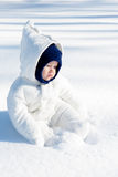 Baby Enjoying Snow Stock Photos