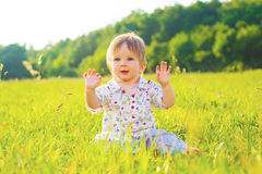 Baby enjoys life. Royalty Free Stock Photo
