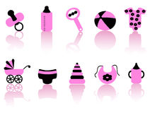Baby equipment icons Stock Images