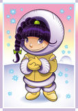 Baby Eskimo. Vector image, software: illustrator Stock Photo