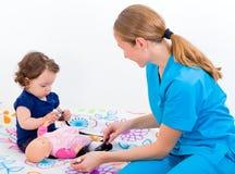 Baby examination Royalty Free Stock Photography