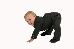 Baby executive exercise Royalty Free Stock Photography