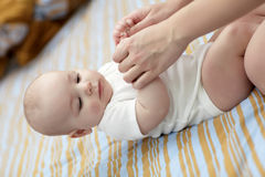 Baby exercises Royalty Free Stock Photography