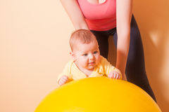 The Baby exercises Stock Photos