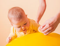 The Baby exercises Stock Images