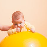 The Baby exercises Stock Photo