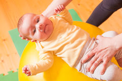 The Baby exercises Royalty Free Stock Photography