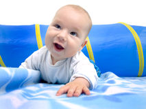Baby exerts crawling Royalty Free Stock Photography