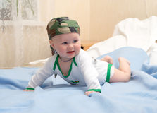 Baby explores the world Royalty Free Stock Images