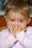 Baby with expression Royalty Free Stock Photo