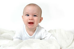 Baby Expressions. The many faces and expressions of babies Stock Photo