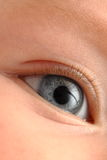 Baby eye. Close up of right blue baby eye royalty free stock photography
