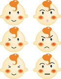 Baby face. A series of baby face, expression in vector, illustration Royalty Free Stock Photography