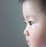 Baby face. Close up of a Chinese baby's face Royalty Free Stock Images