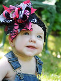 Baby Face with Bow Stock Photo