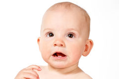 Baby face, close-up Stock Photography