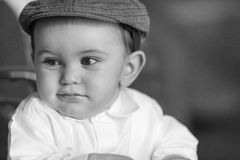 Baby face close up smiling Royalty Free Stock Photography