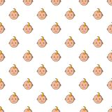Baby face pattern, cartoon style Stock Images