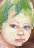 Baby face - portrait 1 Stock Photos