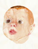 Baby face - portrait 10 Royalty Free Stock Photo