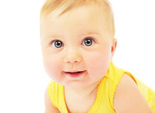 Baby face portrait royalty free stock image
