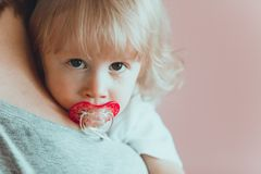 Baby face with tear royalty free stock image