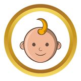 Baby face vector icon, cartoon style Stock Photography