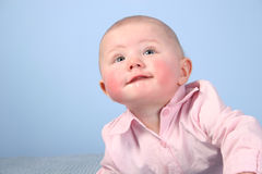 Baby Face With Red Cheek Stock Photo
