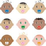 Baby Faces Royalty Free Stock Images