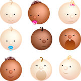 Baby faces Stock Photography