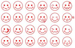 Baby faces expressions Stock Photo