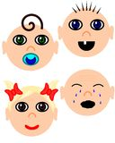 Baby faces Stock Image