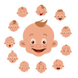 Baby facial expression Royalty Free Stock Images