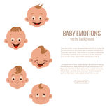 Baby facial expression Stock Image