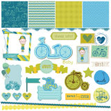 Baby-Fahrrad-Satz Lizenzfreies Stockfoto